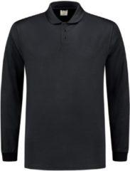 Tricorp 202005 Poloshirt UV Block Cooldry Lange Mouw Marineblauw maat XS