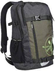 Chiemsee Rucksack mit gepolsterten Schultergurten und zusätzlichem Brustgurt CHIEMSEE Black/White/Brown