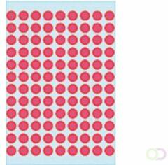 HERMA Universele etiketten ø 8 mm rond fluor rood papier mat 540 st.