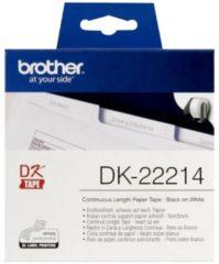 Brother Papier Endlos-Etikett (Papier) DK-22214 Brother Weiß