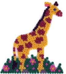 Hama grondplaat giraffe wit