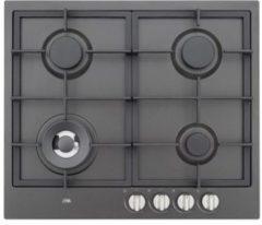 Antraciet-grijze Etna KG959ZTA inbouw gaskookplaat met wokbrander en gietzijzeren...