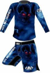 Ali's fightgear kickboks broekje - mma short - mmas-1 blauw - m