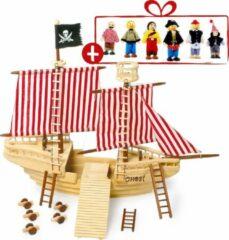 Legler Piratenschip Piratenschip + 6 gratis piratenpoppetjes