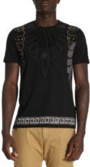 Nero VERSACE COLLECTION T-shirt A Maniche Corte Con Rifiniture Barocco E Strass