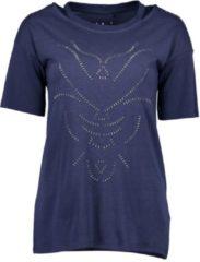 Blue Seven dames shirt donkerblauw steentjes - maat L