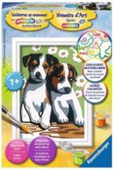 Zwarte Ravensburger Schilderen op nummer Serie F Schattige puppies