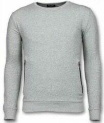 Enos Casual Crewneck - Buttons Trui - Grijs Joggingbroek , Trainingspak Heren Sweater Maat XS