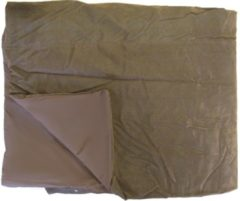Donkerbruine Essenza Leather Sprei (Leather Look) - Tweepersoons - 220x250 cm - Dark Brown