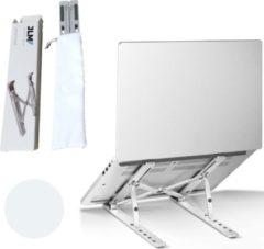 Witte JLM High End Products - Verstelbare Ergonomische Laptopstandaard - Laptopstandaarden - Notebookstandaard - Standaard Universeel - Lichtgewicht Apple Macbook/Air, iPad, Asus, HP, ACER, Microsoft, Lenovo, Window Thuiswerken- Aluminium Standaard