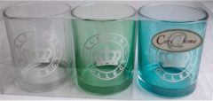 Groene Cosy @ Home Cosy@Home Elegant Collect Glazen Theelichthouder 3 Stuks