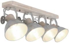 Zwarte Steinhauer opbouwspot Mexlite Gearwood 4L - mat staal