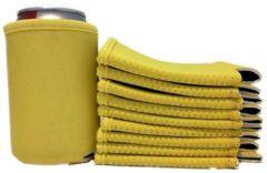 Koozie.eu 10 x bier - frisdrank blik koelhoud hoesje in geel |bierblik hoesjes | Festival | Vakantie | Strand | Carnaval