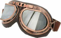 CRG Vintage pilotenbril zilver reflectie glas