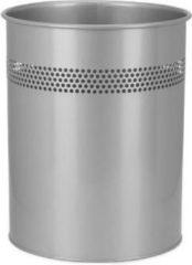 Zilveren Hjh office Prullenbak - 15L Universeel toepasbaar - Clean III
