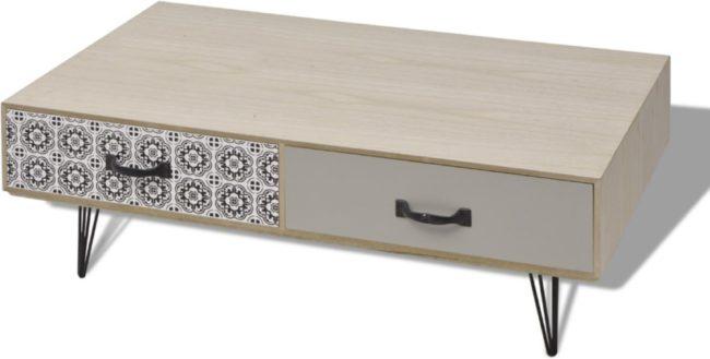 Afbeelding van VidaXL Salontafel 100x60x35 cm beige