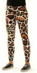 Gele Legging van Festivalleggings - Giraffe - Maat L - Comfortabel - Ademend - Zachte Stof