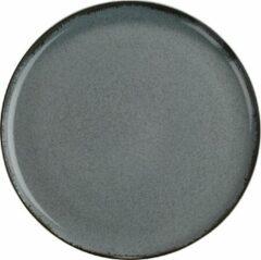Blauwe Kitchen trend - servies - gebaksbord - Petrol ocean - porselein - set van 2 - rond 19 cm
