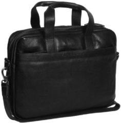 Zwarte The Chesterfield Brand Chesterfield Dean Laptop Bag black