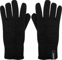 Zwarte SINNER Wilderness Knitted Wintersporthandschoenen Heren - Maat M/L