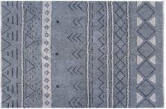 Blauwe Lorena Canals - Wollen vloerkleed - Lakota Night - 140 x 200 cm