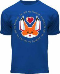 Blauwe Fox Originals Vesper Favorite Fox Originals Kids Unisex T-shirt Maat 92