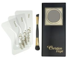 Zwarte Christian Faye Eyebrow Make Up wenkbrauwpoeder - Charcoal