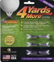 GreenKeepers 4 Yards More Golf Tee - Hybrid - 1 inch - Paars *NEW*