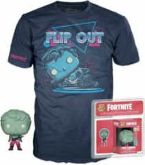 Blauwe Funko Pocket Pop! & T-Shirt Fortnite Love Ranger - Maat L