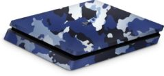 Ucustom Playstation 4 Slim Console Skin Camouflage Blauw-PS4 Slim Sticker
