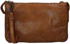 Bruine Bear Design Cow Lavato Clutch cognac Damestas