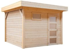 Woodvision Topvision | Blokhut Tapuit 300 x 300 Geïmpregneerd groen