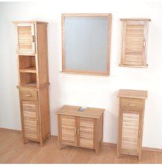 Wandspiegel mit Ablageboden Joy Möbel-Direkt-Online braun