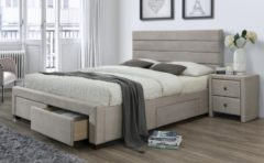 Home Style Tweepersoonsbed Kayleon 160x200cm in beige