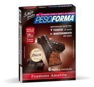Tonacci aristide farmaceutici Pesoforma barrette dark 12 pezzi