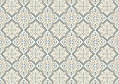 Exclusive Edition Tapijt Flower Diamond 195 X 135 Cm Polyester Grijs/taupe