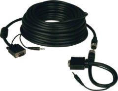 Tripp Lite P504-100-EZ video kabel adapter 30,5 m VGA (D-Sub) + 3.5mm Zwart