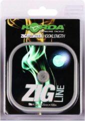 Groene Korda Zig Line - 9lb - 4.1kg - 0.25mm - Transparant