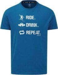 Dare 2b T-shirt Devout Ii Heren Katoen Blauw Maat Xs