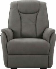 Grijze Lnl-medicare Senioren Sta-op elektrische relaxstoel - Benidorm - Stof - 2 motoren – 4 kleuren