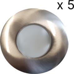 Roestvrijstalen Verlichtingsset Sanimex Njoy 5 LED Spots 8x8 cm IP65 RVS Look
