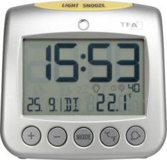 Grijze TFA Dostmann TFA 60.2514 Sonio radiogr. wekker met temperatuur