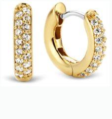 Ti Sento Milano Ti Sento-Milano 7210ZY Oorringen zilver met zirconia goudkleurig 14,4 x 3,2 mm