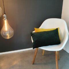 Viva Kussen – Sierkussen – Kussens Woonkamer – Luxe Kussen – Zacht – Velvet – 50x30 cm – Oker Geel
