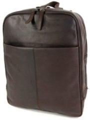 Bruine Chesterfield Ruime rugzak backpack laptoptas DEX Bruin