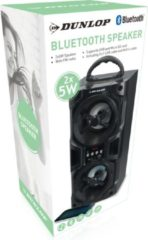 Zwarte Dunlop Bluetooth Speaker - 2x 5Watt - FM Radio