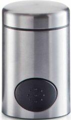 Zilveren 1x Zoetjes dispenser 8,5 cm RVS - Zeller - Keukenbenodigdheden - Koffie/thee drinken - Zoetstof tabletten dispensers - Zoetjes dispensers