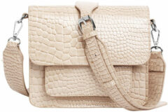 HVISK Cayman Pocket crossbody tas sand beige