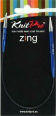 Blauwe KnitPro Zing Rondbreinaalden 4.50mm en 25.00cm (Let op zeer kleine naalden !)