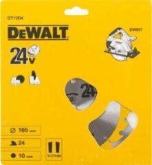 DeWalt DT1204 Construction Cirkelzaagblad - 165 x 10 x 24T - Hout (Met nagels)